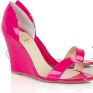 Christian Louboutin pink Zeppa wedge sandals 39.6